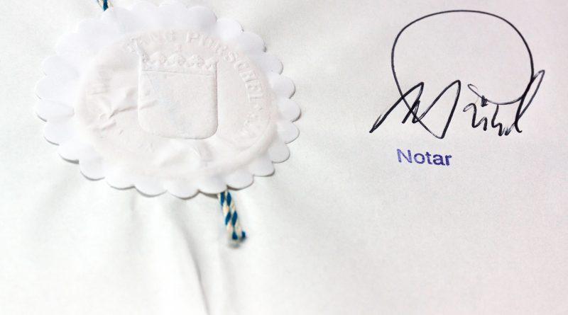 Notar, Urkunde