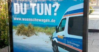 Plakataktion für den ASB-Wünschewagen 2018